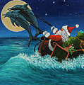 Riding The Waves With Santa by Darice Machel McGuire