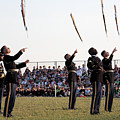 Rifle Toss By The Old Guard At The Twilight Tattoo  In Washington Dc by William Kuta