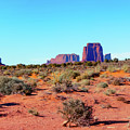 Right Panel 3 Of 3 - Monument Valley Monolith Panorama Landscape - American Southwest by Gregory Ballos