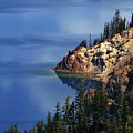 Right Side Of Crater Lake Oregon by Teri Schuster