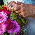 Rings Hands And Flowers by Jon Burch Photography