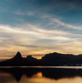 Rio De Janeiro Skyline Silhouette by Alexandre Rotenberg