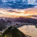 Rio De Janeiro Sunset by Desiree Silva