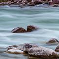 Rio Grande Flow Through Stones by SR Green