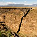 Rio Grande Gorge Bridge Taos New Mexico by Lawrence S Richardson Jr