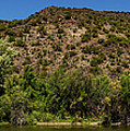 Rio Grande Panorama Pilar New Mexico by Lawrence S Richardson Jr