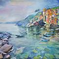 Riomaggiore Cinque Terre Italy by Annika Zalmover