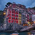 Riomaggiore In Cinque Terre Italy by Joan Carroll
