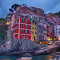 Riomaggiore In Cinque Terre Italy Painterly by Joan Carroll
