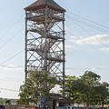 Rip Line Tower At Coba Village by Carol Ailles