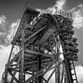 Rip Ride Rockit In Black And White by Matthew Nelson