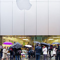 Rip Steve Jobs October 5 2011 San Francisco Apple Store Memorial Square by Wingsdomain Art and Photography