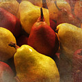 Ripe Pears And Two Persimmons by Victoria Harrington