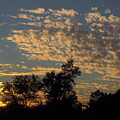 Ripple Clouds At Sunset by D Hackett