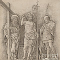 Risen Christ Between Saints Andrew And Longinus by Andrea Mantegna