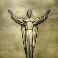 Risen Christ In Gold by Randy Steele
