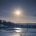 Rising Sun On A Cold Winter Morning by Edward Fielding