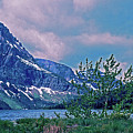 Rising Wolf Mountain And Two Medicine Lake by Rich Walter