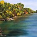River At Hidden Acres 2. by Kathy Spadaro