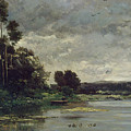 River Bank by Charles-Francois Daubigny