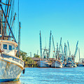 Darien Shrimp Boats by Gestalt Imagery