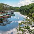 River Boats Docked by Debbie Ann Powell