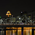 Ohio River Bridges And Louisville Skyline by Bob Phillips