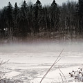 River Ice And Steam by William Tasker