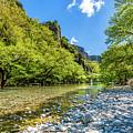 River In Kleidonia Zagora by Tsafreer Bernstein