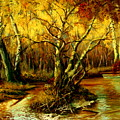 River In The Forest by Henryk Gorecki