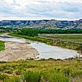 River Landscape In Northwest North Dakota  by Ruth Hager