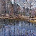 River Landscape Nikolai Petrovich Bogdanov-belsky by Eloisa Mannion