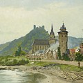 River Landscape Of The Rhine by MotionAge Designs