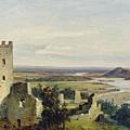 River Landscape With Castle Ruins by Carl Rottmann