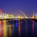 River Liffey In Dublin At Dusk by Jose Maciel