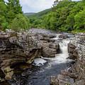River Moriston Falls 0413 by Teresa Wilson