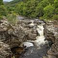 River Moriston Falls Vertical by Teresa Wilson