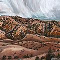 River Mural Autumn Panorama by Dawn Senior-Trask