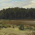 River On The Edge Of A Wood by Ivan Shishkin