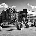 river sculpture in Victoria Square Birmingham city centre UK by Joe Fox