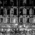 River Street Sweets Candy Store Black White  by Alex Grichenko