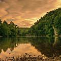 River Sunset by Bill Schmitter