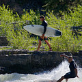 River Surfers Snake River by Daryl L Hunter