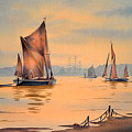 River Thames At Greenwich London by Bill Holkham