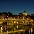 River Tiber And Vatican At Night by Mike Houghton BlueMaxPhotography