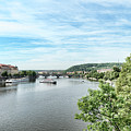 River Vltava by Sharon Popek