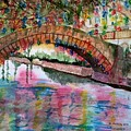 River Walk At Christmas by B Kathleen Fannin