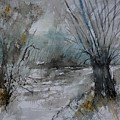 River Watercolor 711082 by Pol Ledent
