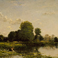 Riverbank With Fowl by Charles Francois Daubigny