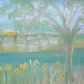 Riverside Hazy Dawn by Karen Jane Jones